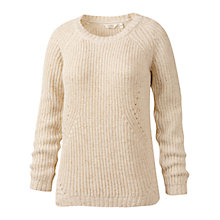Buy Fat Face Travelling Cable Jumper, Ivory Online at johnlewis.com