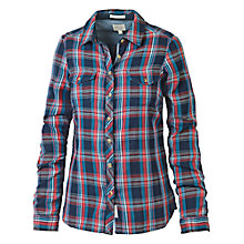 Buy Fat Face Classic Fit Double Check Shirt, Navy Online at johnlewis.com