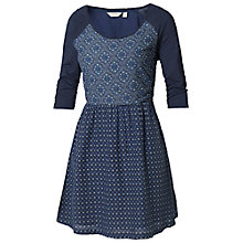 Buy Fat Face Morocco Geo Print Dress, Navy Online at johnlewis.com