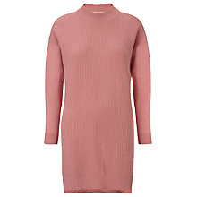 Buy Whistles Rib Front Wool Cashmere Dress, Pink Online at johnlewis.com