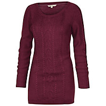 Buy Fat Face Cove Cable Tunic Knitted Jumper, Bordeaux Online at johnlewis.com