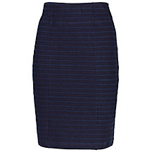 Buy Fat Face Jacquard Stripe Tube Skirt, Navy Online at johnlewis.com