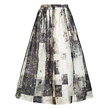 Buy Whistles Rock Print Silk Skirt, Multi Online at johnlewis.com