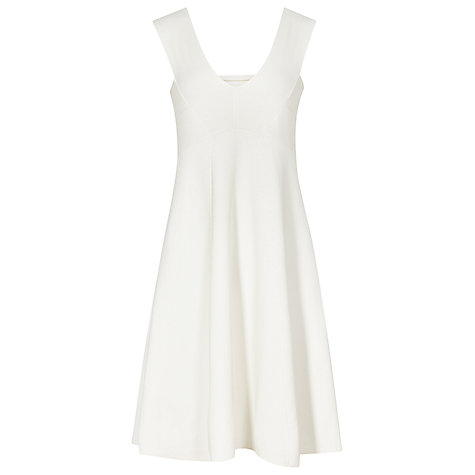Buy Reiss Jamie Knitted A-line Dress, Ivory Online at johnlewis.com