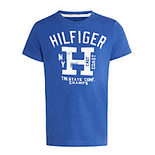 Buy Tommy Hilfiger Boys' Blake T-Shirt, Monaco Blue Online at johnlewis.com