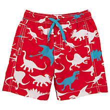 Buy Hatley Boys' Dinosaur Print Board Shorts, Red Online at johnlewis.com