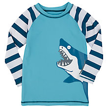 Buy Hatley Boys' Shark Print Rash Vest Online at johnlewis.com
