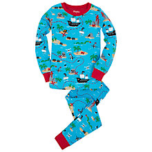 Buy Hatley Boys' Treasure Island Print Pyjamas, Blue/Multi Online at johnlewis.com