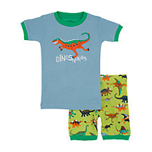 Buy Hatley Boys' Dinosaur Print Short Pyjamas, Blue/Green Online at johnlewis.com