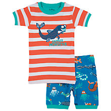 Buy Hatley Baby Sea Creatures Short Pyjamas, Orange/Blue Online at johnlewis.com