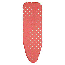 Buy John Lewis Coral Polka Ironing Board Cover Online at johnlewis.com