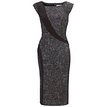 Buy Gina Bacconi Tweed Stretch Dress, Black Ivory Online at johnlewis.com