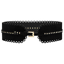 Buy Reiss Alina Scallop Edge Waist Belt, Black Online at johnlewis.com