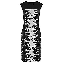 Buy Reiss Raina Zebra Print Sequin Shift Dress, Black/White Online at johnlewis.com