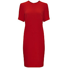 Buy Jaeger Wool Crepe Textured Shift Dress, Cherry Online at johnlewis.com