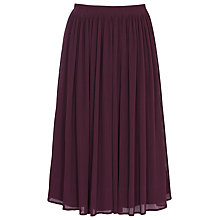 Buy Reiss Helena Pleated Skirt, Damson Online at johnlewis.com