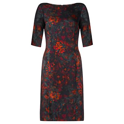 Jigsaw Meadow Floral Shift Dress, Multi