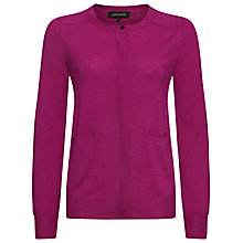 Buy Jaeger Gostwyck Wool Cardigan, Magenta Online at johnlewis.com