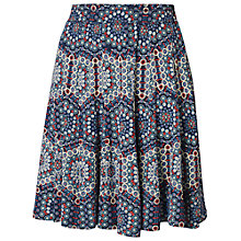 Buy Fat Face Jersey Hexagon Print Seam Skirt, Navy Online at johnlewis.com