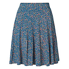 Buy Fat Face Autumn Leaf Jersey Skirt, Peacock Online at johnlewis.com