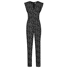 Buy Reiss Otto Spot Printed Jumpsuit, Black Online at johnlewis.com