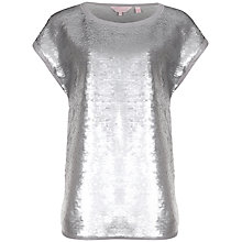Buy Ted Baker Fully Sequinned Top, Silver Online at johnlewis.com