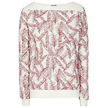 Buy Reiss Palma Print Sweatshirt, Cream Online at johnlewis.com