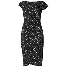 Buy Gina Bacconi Irregular Spot Crepe Dress, Black Online at johnlewis.com