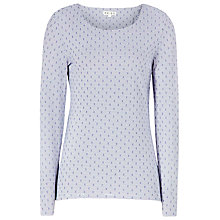 Buy Reiss Bouwen Top, Blue Passion / Cream Online at johnlewis.com