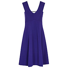 Buy Reiss Jamie Fitted A-Line Dress, Blue Passion Online at johnlewis.com