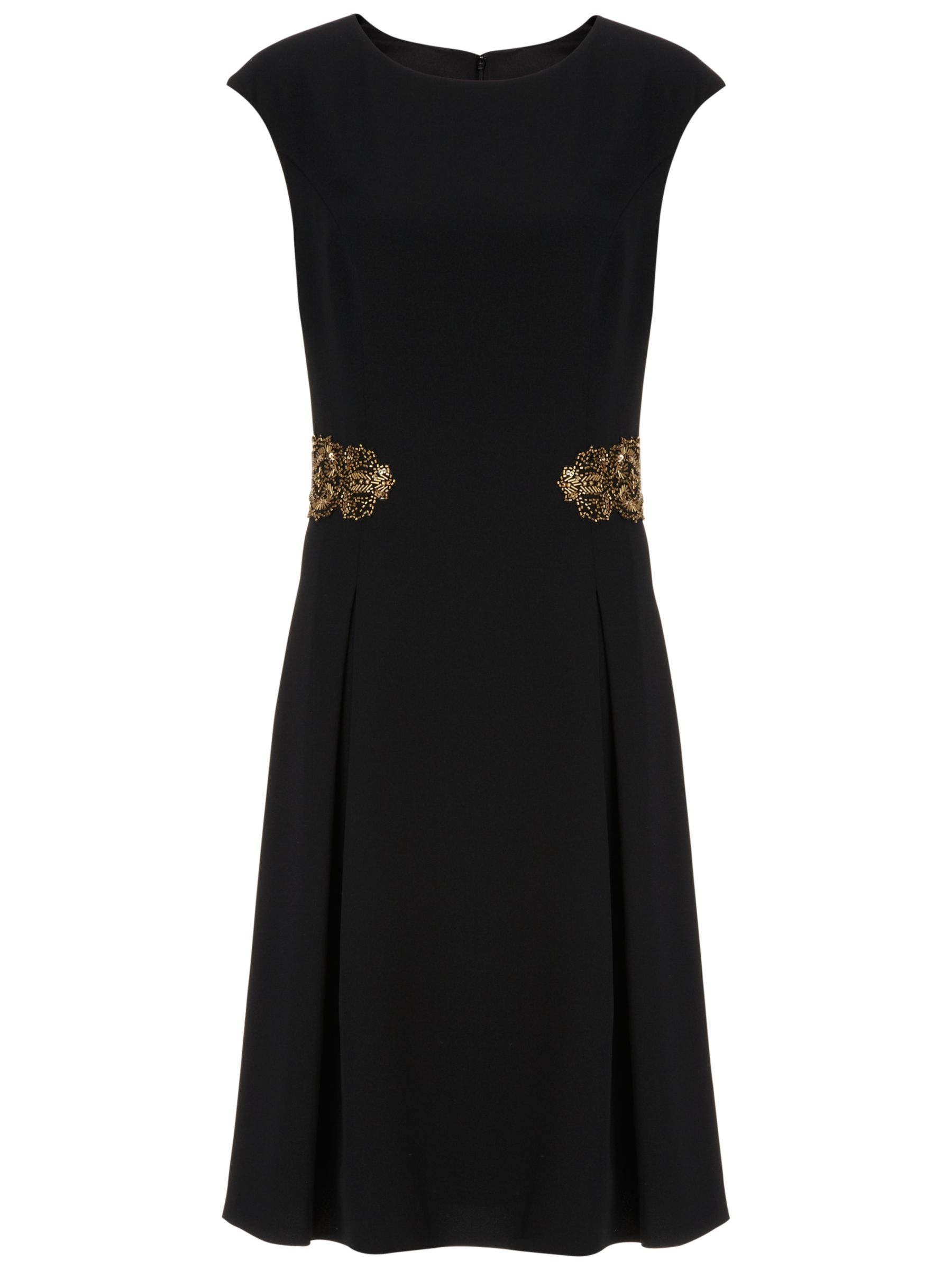 Gina Bacconi Moss Crepe Dress, Black