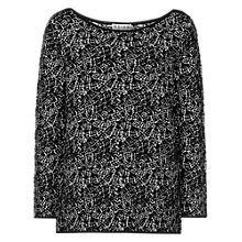 Buy Reiss Bardot Jumper, Black / White Online at johnlewis.com