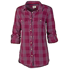 Buy Fat Face Lily Check Boyfriend Shirt, Bordeaux Online at johnlewis.com