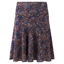 Buy Jigsaw Autumn Floral Flip Hem Skirt, Multi Online at johnlewis.com
