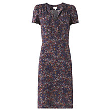 Buy Jigsaw Autumn Floral Print Tea Dress, Multi Online at johnlewis.com