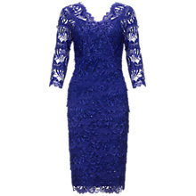 Buy Gina Bacconi Beaded Lace Dress, Royal Online at johnlewis.com