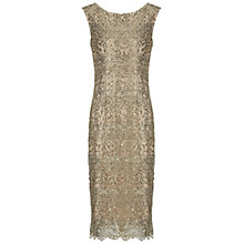 Buy Gina Bacconi Sequin Lace Dress, Gold Online at johnlewis.com