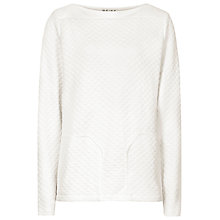 Buy Reiss Beanie Quilted Jumper, Ivory Online at johnlewis.com