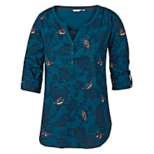Buy Fat Face Popover Top, Peacock Online at johnlewis.com