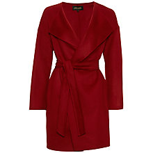 Buy Jaeger Drop Shoulder Wool Coat, Winter Berry Online at johnlewis.com