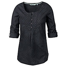 Buy Fat Face Jolie Broderie Popover Top, Phantom Online at johnlewis.com