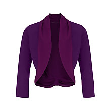 Buy Jacques Vert Chiffon Knit Trim Bolero, Byzantium Online at johnlewis.com