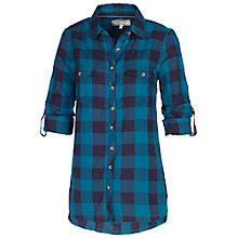 Buy Fat Face Lily Check Boyfriend Shirt, Navy Online at johnlewis.com