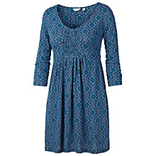 Buy Fat Face Pleat Morocco Geo Tunic, Peacock Online at johnlewis.com