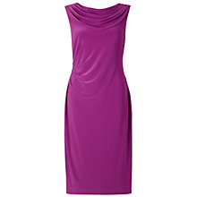Buy Gina Bacconi Spring Jersey Cowl Neck Dress, Purple Online at johnlewis.com