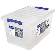 Buy Sistema Storage Box with Lid, 27L Online at johnlewis.com