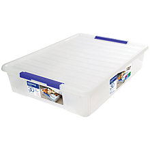 Buy Sistema Plastic Storage Box with Lid, 30L Online at johnlewis.com