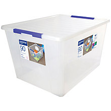 Buy Sistema Storage Box with Lid, 90L Online at johnlewis.com