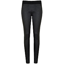 Buy Ted Baker Snake Effect Panelled Leggings, Black Online at johnlewis.com