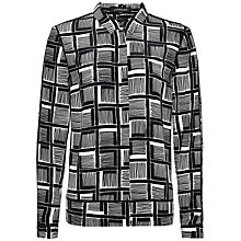 Buy Jaeger Silk Painted Cube Blouse, Black/Ivory Online at johnlewis.com
